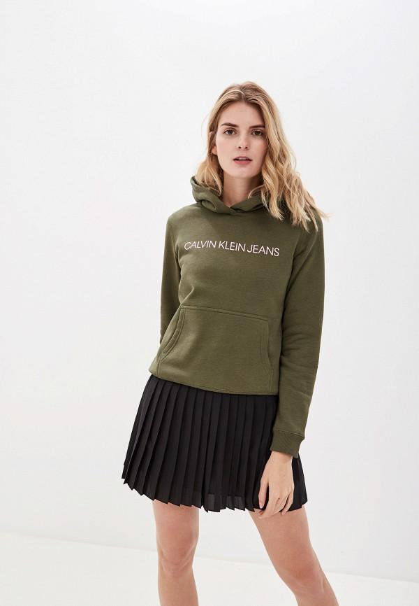 Calvin Klein Jeans | хаки Женские худи Calvin Klein Jeans | Clouty