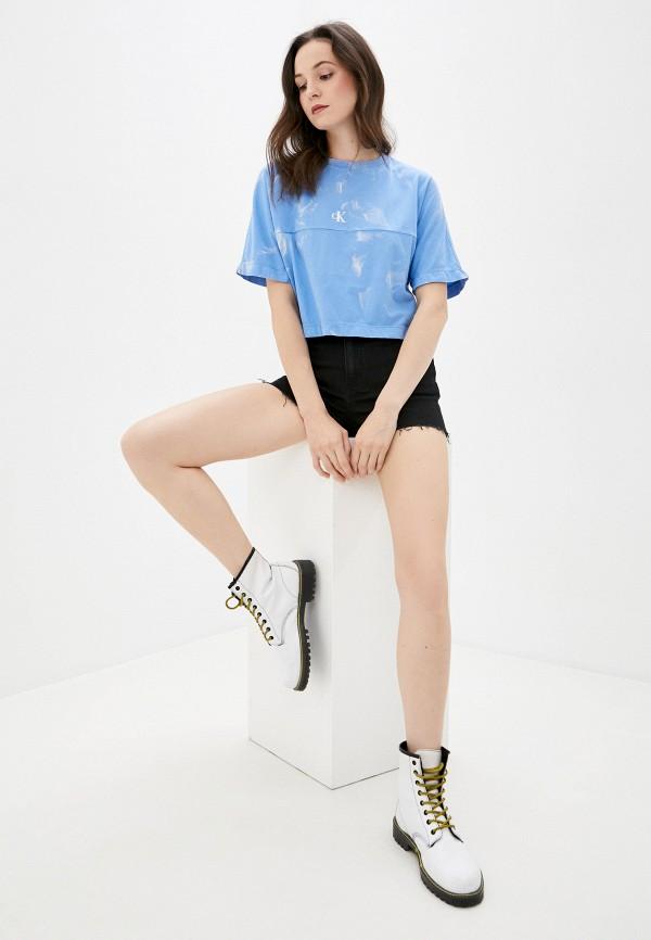 Calvin Klein Jeans | голубой Футболка Calvin Klein Jeans | Clouty