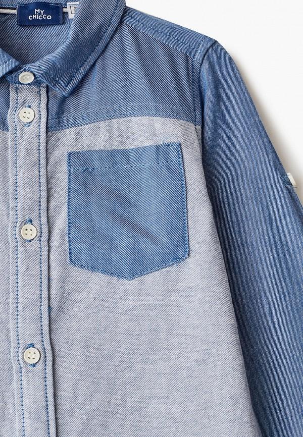 Chicco | голубой Голубая рубашка Chicco для мальчиков | Clouty