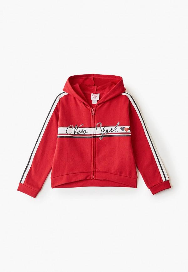 Chicco | красный Красная толстовка Chicco для девочек | Clouty