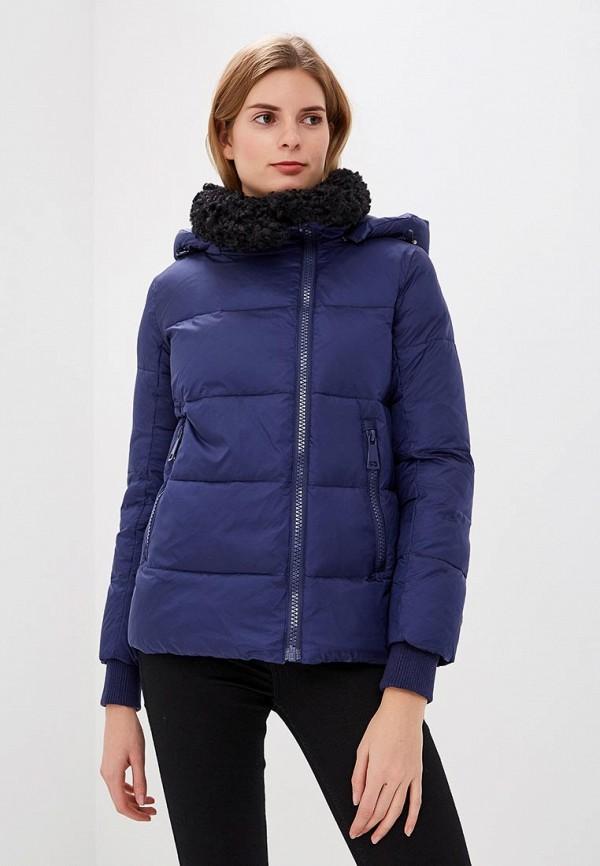 Clasna   синий Женская зимняя синяя утепленная куртка Clasna   Clouty