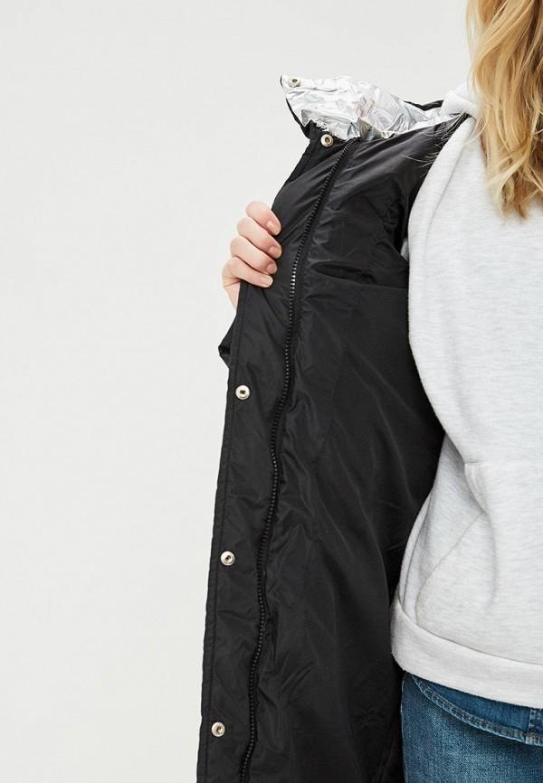 Clasna | черный Женская зимняя черная утепленная куртка Clasna | Clouty