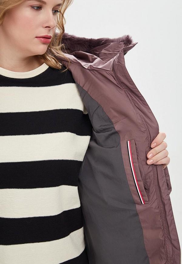 Clasna   фиолетовый Женская зимняя фиолетовая утепленная куртка Clasna   Clouty