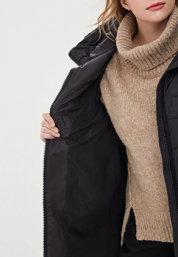 Clasna   черный Женская зимняя черная утепленная куртка Clasna   Clouty
