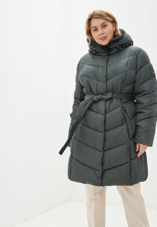 Clasna | зеленый Женская зимняя зеленая утепленная куртка Clasna | Clouty