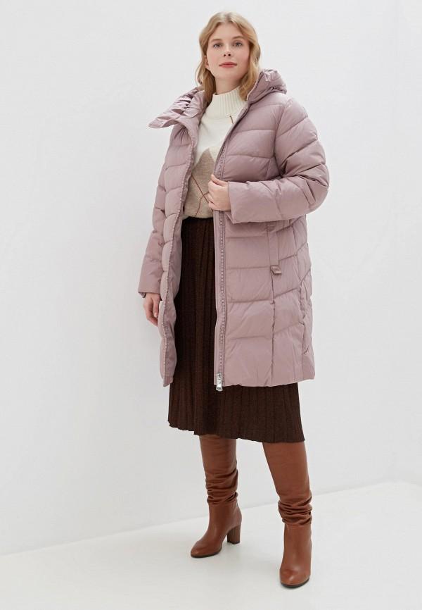 Clasna   розовый Женская зимняя розовая утепленная куртка Clasna   Clouty