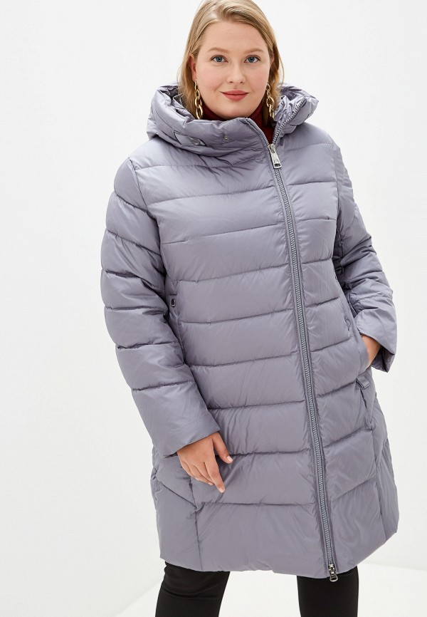 Clasna   серый Женская зимняя серая утепленная куртка Clasna   Clouty