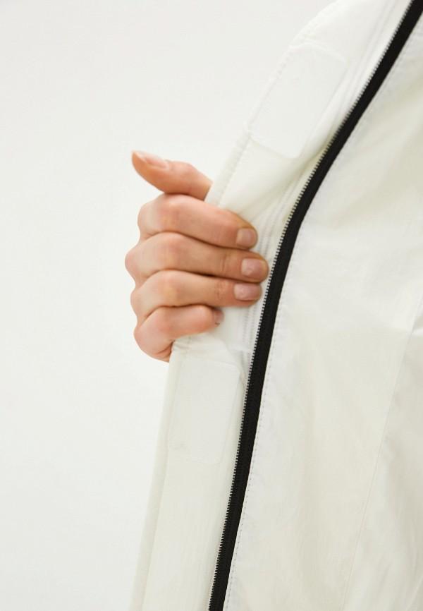 Clasna   белый Женская зимняя белая утепленная куртка Clasna   Clouty
