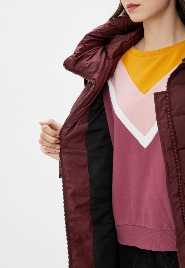 Clasna | бордовый Женская зимняя бордовая утепленная куртка Clasna | Clouty