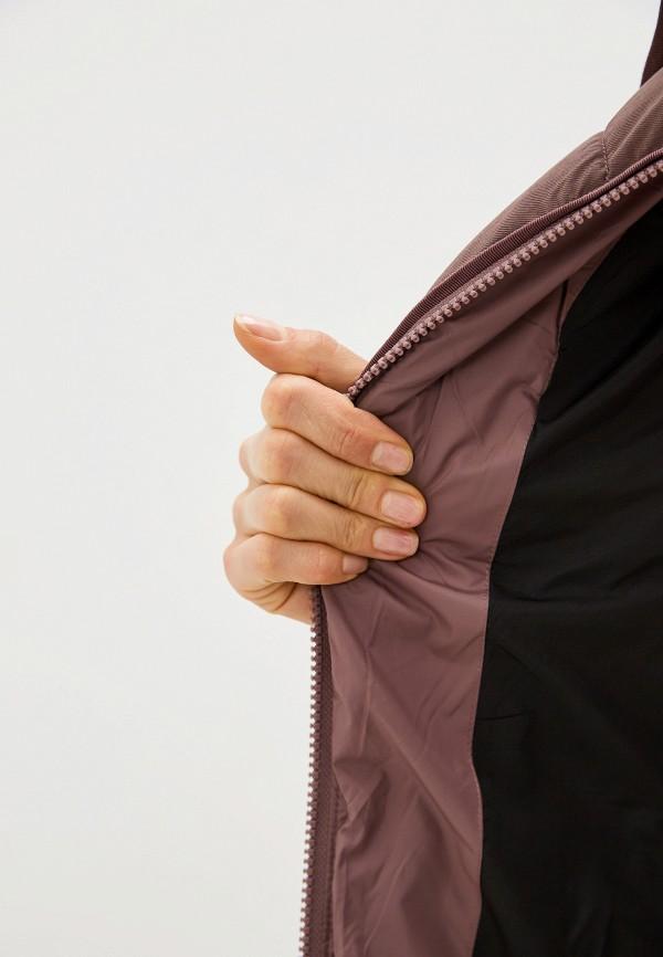 Clasna | коричневый Женская зимняя коричневая утепленная куртка Clasna | Clouty