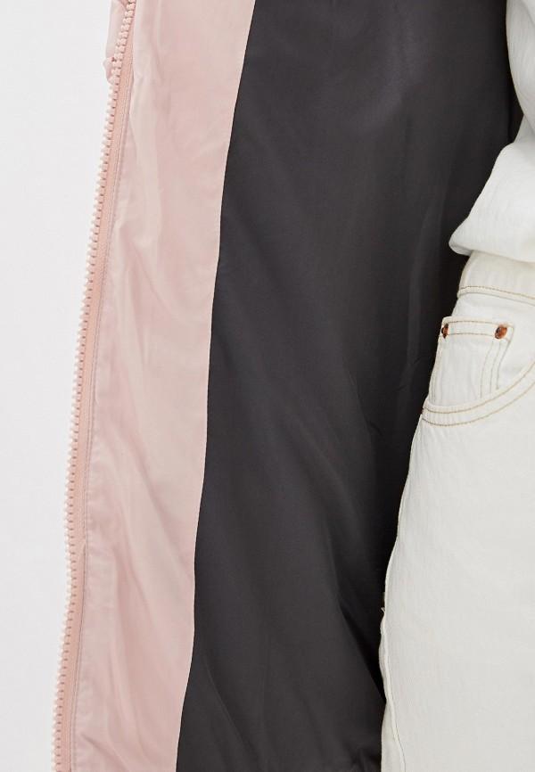 Clasna | розовый Женская зимняя розовая утепленная куртка Clasna | Clouty