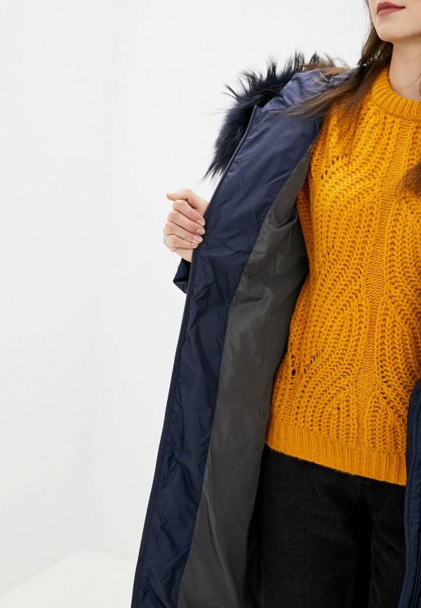 Clasna | синий Женская зимняя синяя утепленная куртка Clasna | Clouty