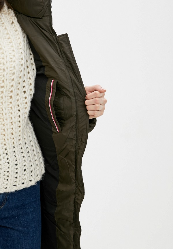 Clasna | хаки Женская зимняя утепленная куртка Clasna | Clouty