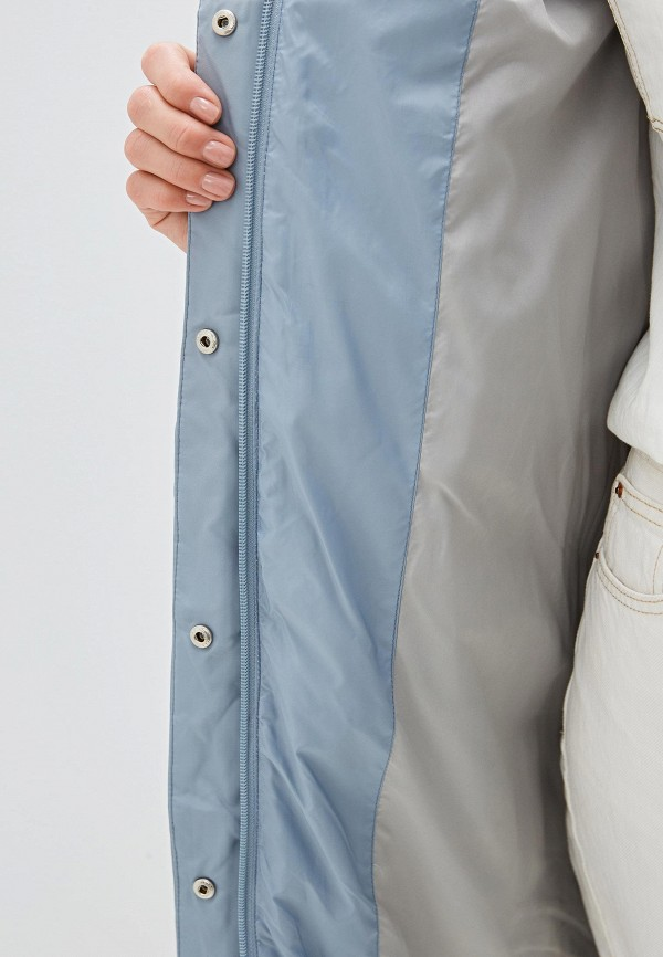 Clasna | голубой Женская зимняя голубая утепленная куртка Clasna | Clouty