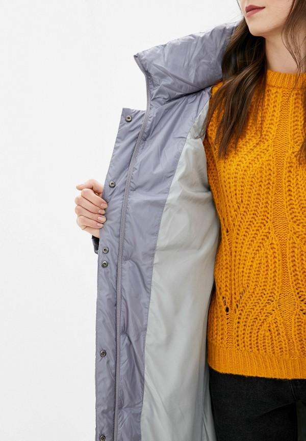 Clasna | серый Женская зимняя серая утепленная куртка Clasna | Clouty