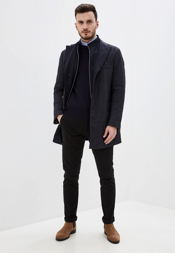 Corneliani | синий Мужская синяя утепленная куртка Corneliani | Clouty