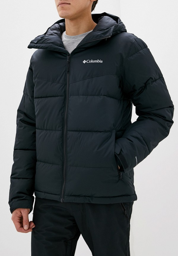Columbia | черный Мужская зимняя черная горнолыжная куртка Columbia | Clouty