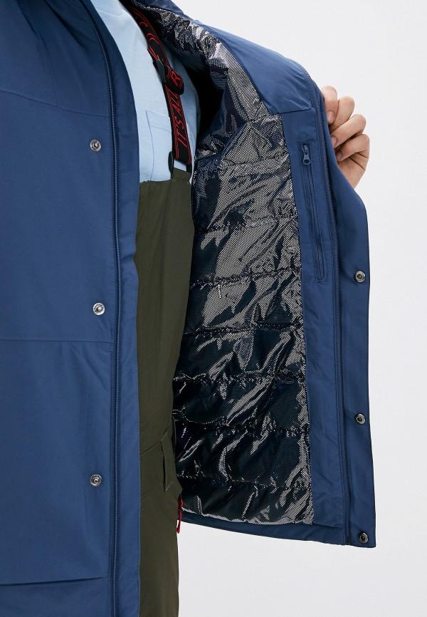 Columbia | синий Мужская синяя утепленная куртка Columbia | Clouty