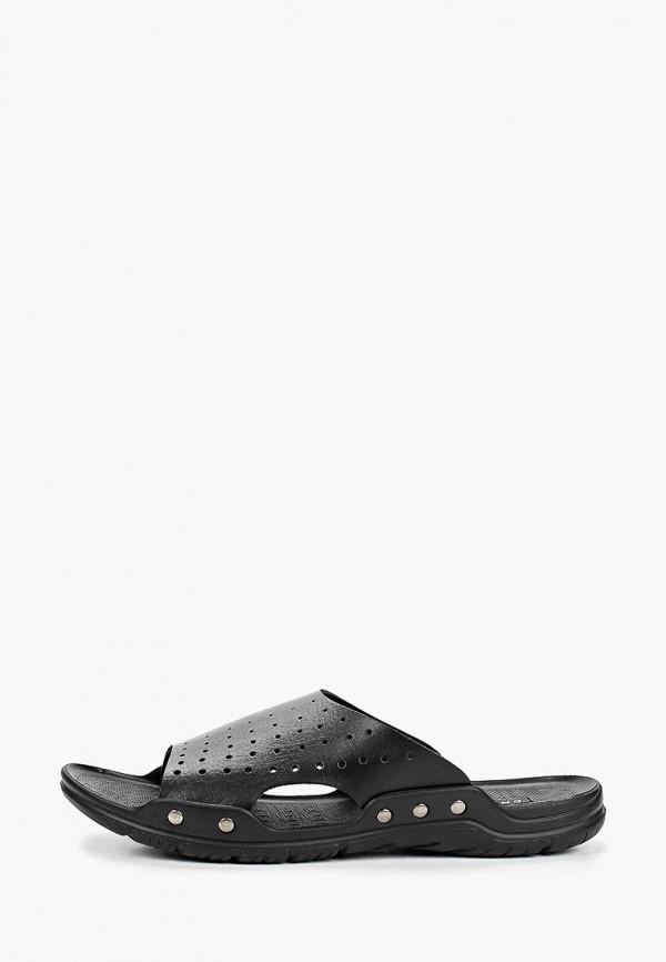 Crosby | черный Мужские черные сандалии Crosby полиуретан | Clouty