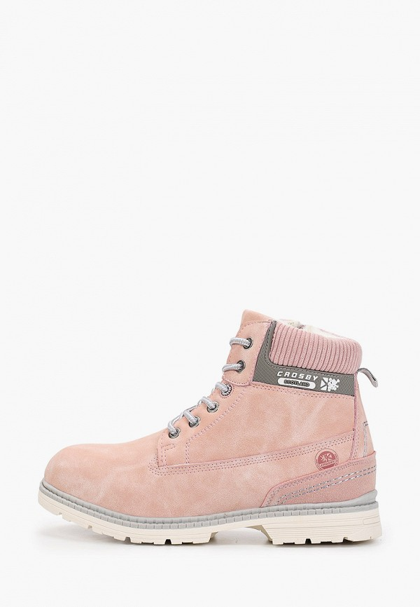 Crosby | розовый Зимние розовые ботинки Crosby термоэластопласт для девочек | Clouty