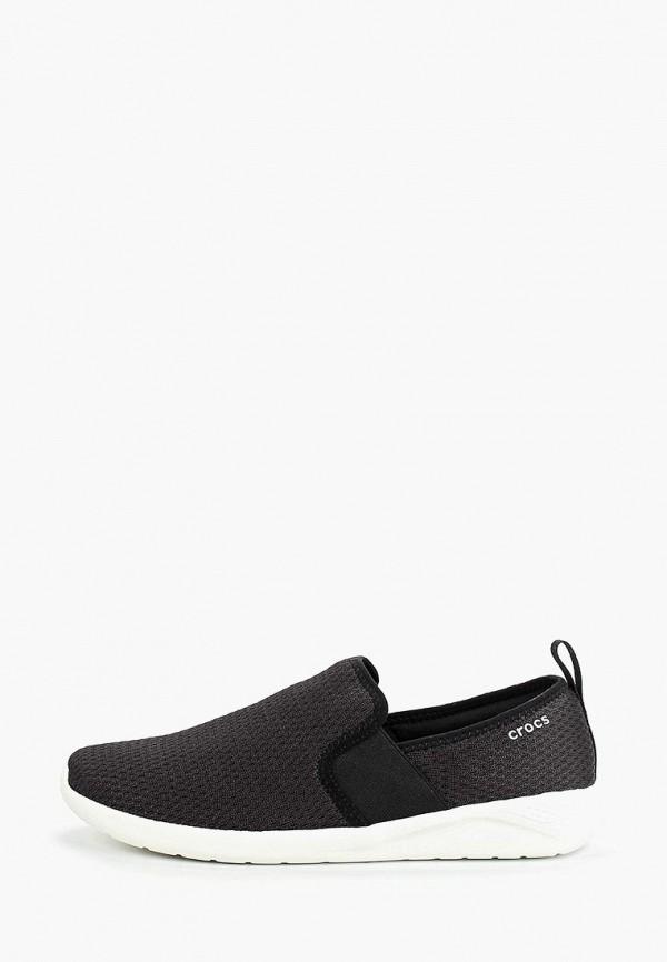 Crocs | черный Мужские черные слипоны Crocs полимер | Clouty