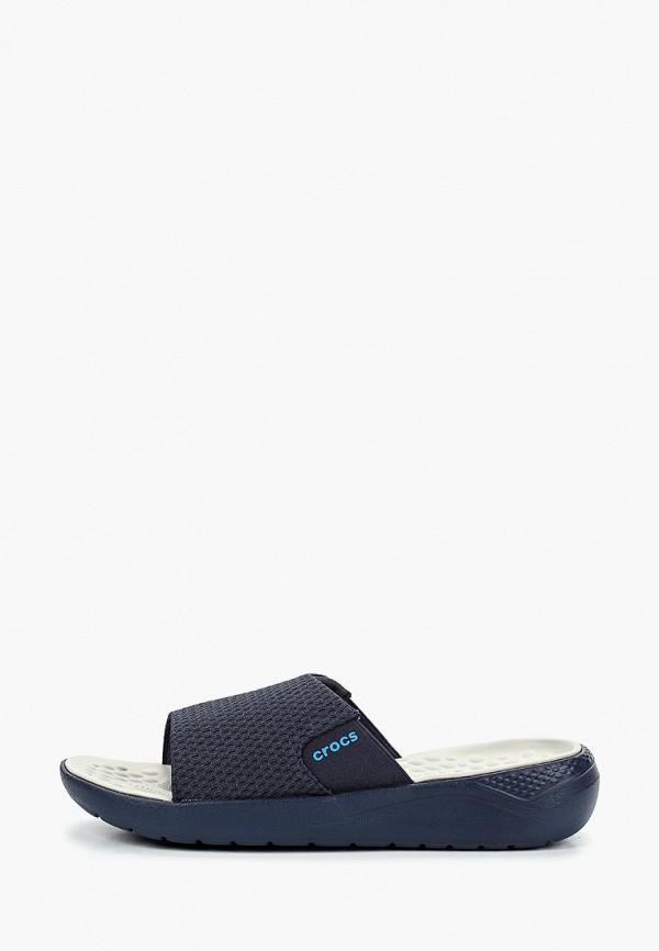 Crocs | синий Мужские синие сланцы Crocs полимер | Clouty