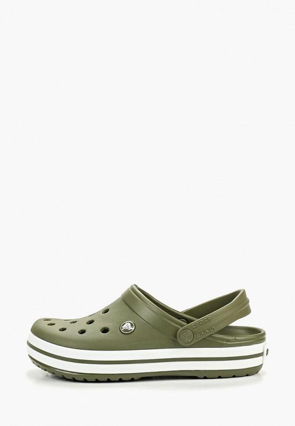 Crocs | зеленый Летние зеленые сабо Crocs полимер | Clouty