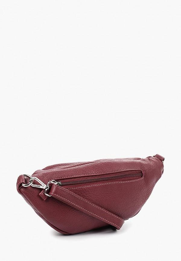 David Jones | бордовый Женская бордовая поясная сумка David Jones | Clouty