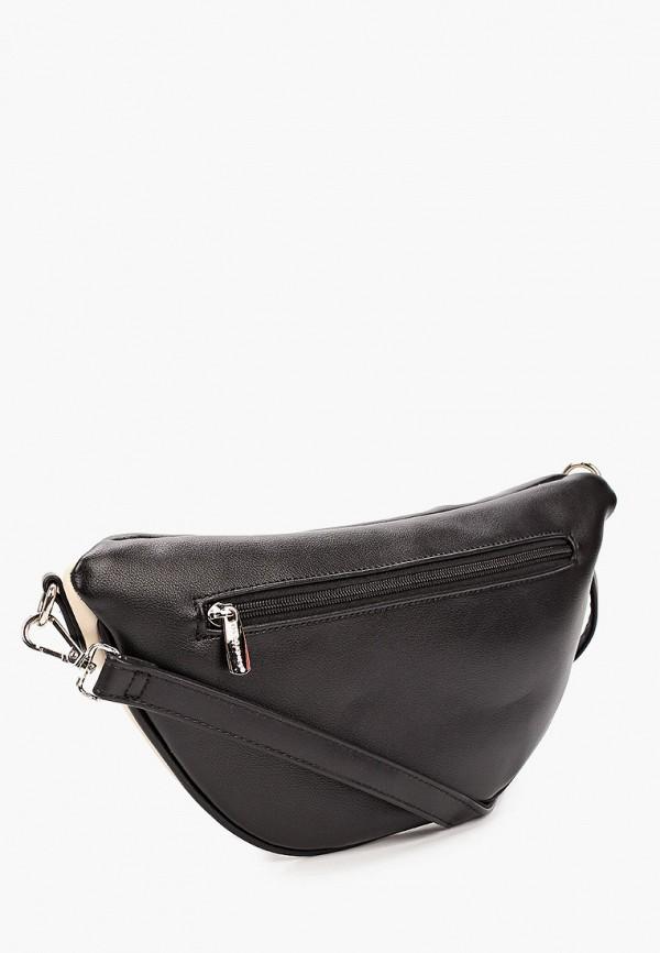 David Jones | черный Женская черная поясная сумка David Jones | Clouty
