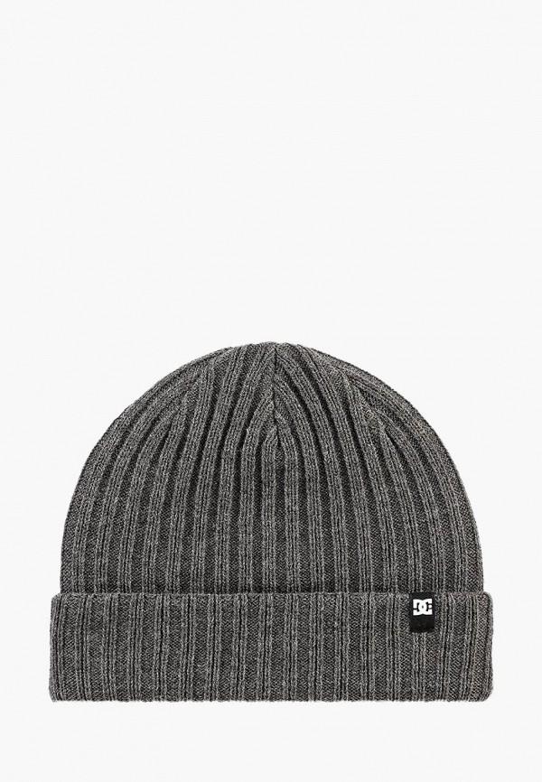 DC Shoes | серый Зимняя серая шапка DC Shoes | Clouty