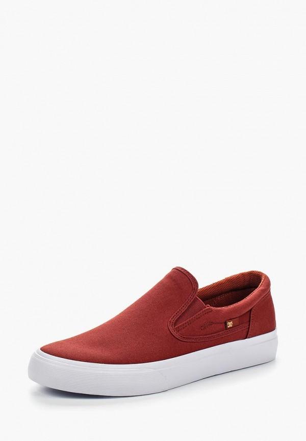 DC Shoes   красный Мужские летние красные слипоны DC Shoes резина   Clouty