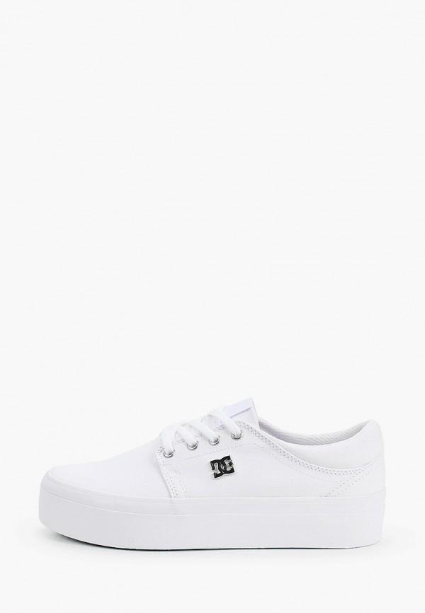 DC Shoes | белый Женские белые кеды DC Shoes резина | Clouty