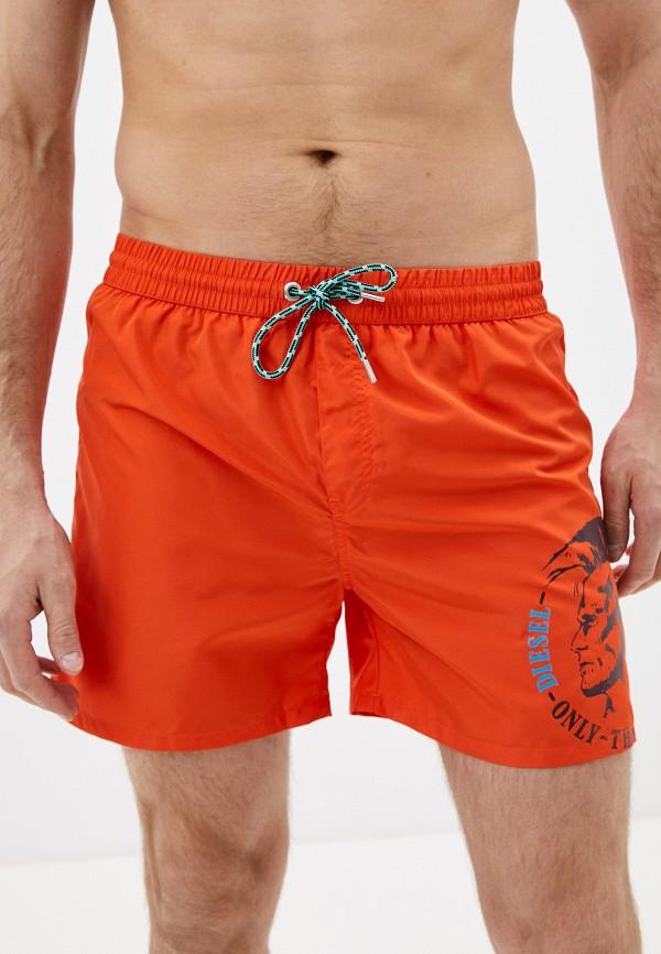 DIESEL | оранжевый Мужские летние оранжевые шорты для плавания DIESEL | Clouty