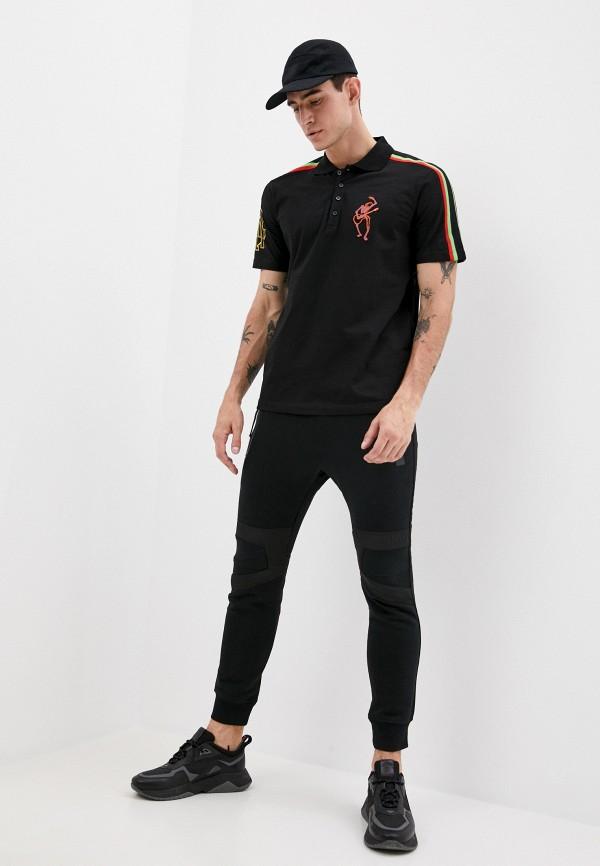 DIESEL | черный Мужские черные спортивные брюки DIESEL | Clouty