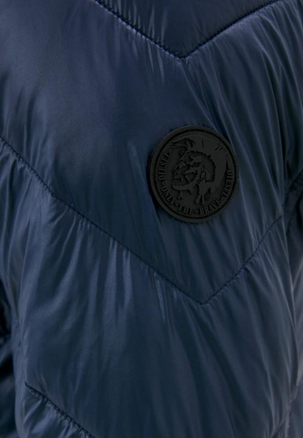 DIESEL | синий Мужская синяя утепленная куртка DIESEL | Clouty