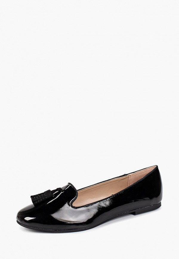 Dorothy Perkins | черный Женские черные балетки Dorothy Perkins полимер | Clouty