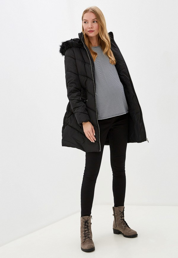 Dorothy Perkins | черный Женская зимняя черная утепленная куртка Dorothy Perkins | Clouty