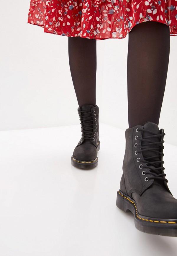 Dr. Martens | черный Женские черные ботинки Dr. Martens резина | Clouty