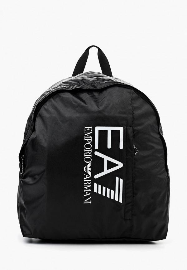 EA7 Emporio Armani | Черный рюкзак EA7 Emporio Armani | Clouty