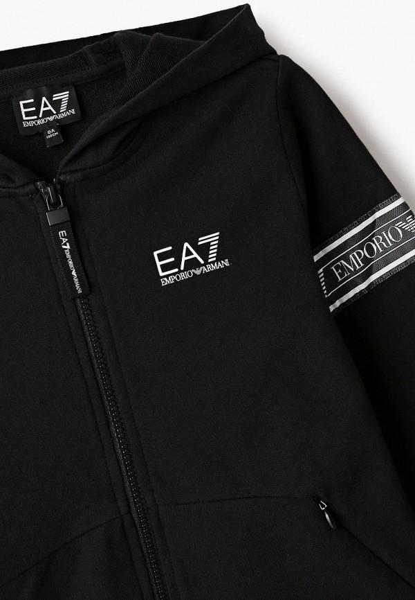 EA7 Emporio Armani | черный Черная толстовка EA7 Emporio Armani для мальчиков | Clouty