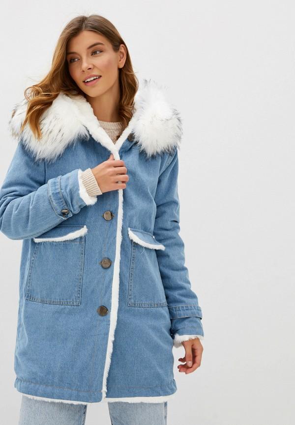 Elsi | голубой Женская голубая джинсовая куртка Elsi | Clouty