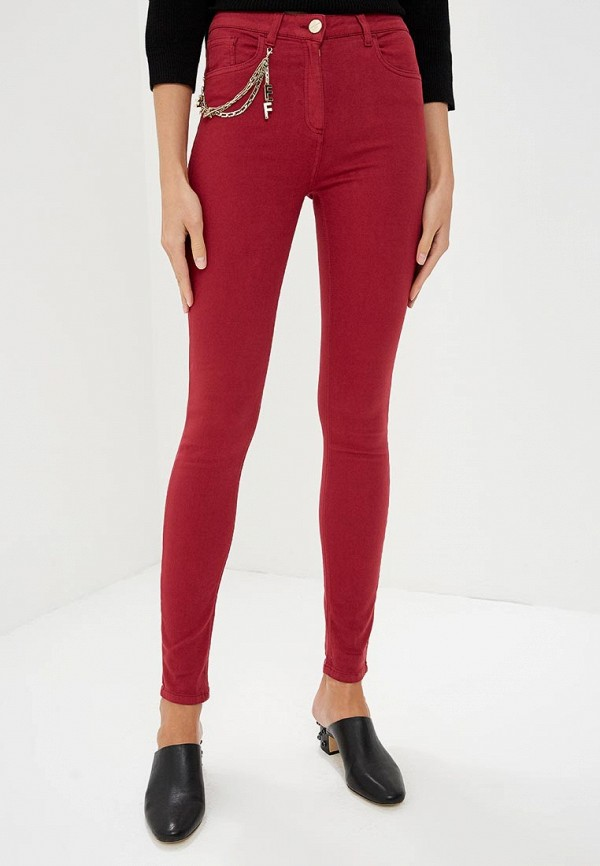 Elisabetta Franchi | бордовый Женские бордовые джинсы Elisabetta Franchi | Clouty