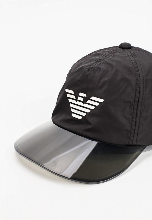 Emporio Armani | черный Черная бейсболка Emporio Armani для мальчиков | Clouty