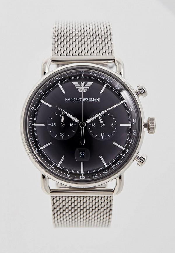Emporio Armani | серебряный Мужские серебряные часы Emporio Armani | Clouty