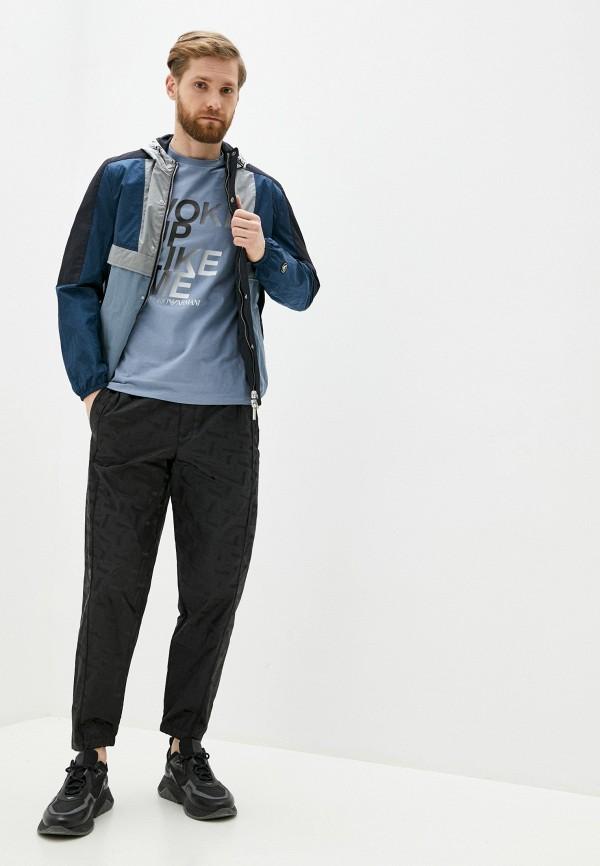 Emporio Armani | синий, мультиколор Мужская куртка Emporio Armani | Clouty