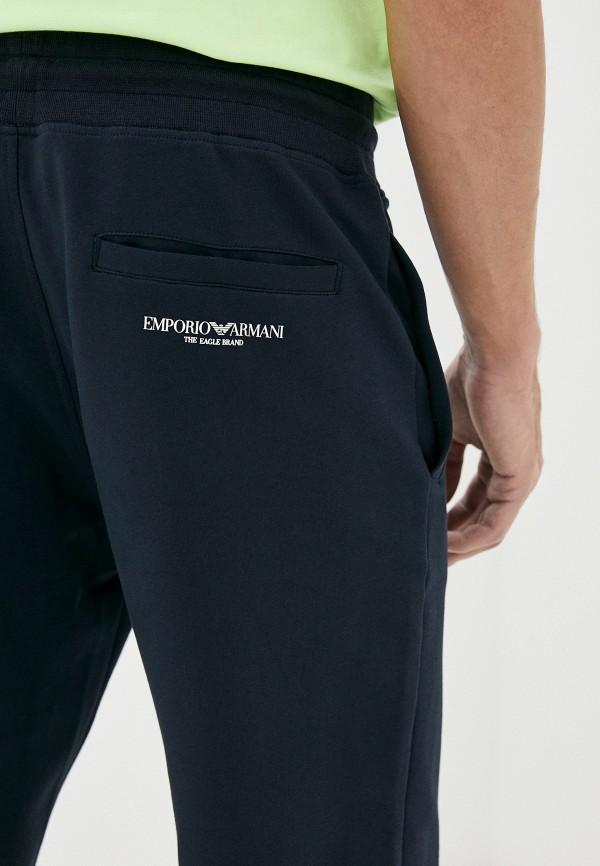 Emporio Armani   синий Мужские синие спортивные брюки Emporio Armani   Clouty
