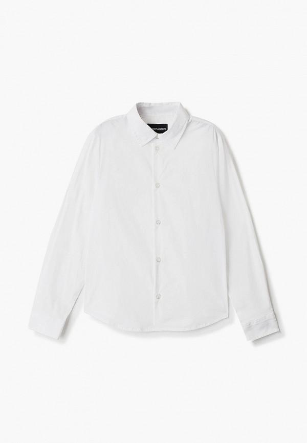 Emporio Armani | белый Белая рубашка Emporio Armani для мальчиков | Clouty