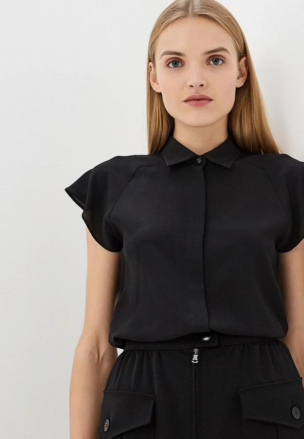 Emporio Armani | черный Женская черная блуза Emporio Armani | Clouty
