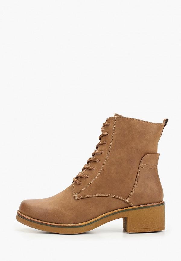 Exquily | коричневый Женские зимние коричневые ботинки Exquily резина | Clouty