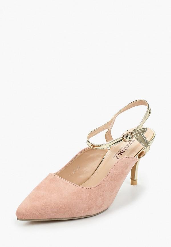 Exquily | розовый Женские розовые туфли Exquily искусственный материал | Clouty